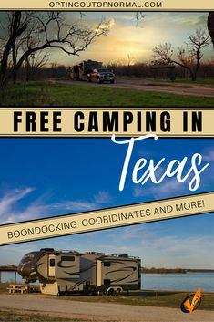 Amazing Texas! We'll share some pretty epic free camping places that big rig friendly! Plus we'll share some great information such as GPS coordinates, cell phone reading for those who work remotely. Do you live full time your RV, or maybe you're planning to? Want to camp for free, or boondock in the most amazing places in a big rig? We're here to tell you it's totally possible. Put Texas on your bucket list! Vacation or weekend road trip, we've got the best placs to camp! #rvlife…