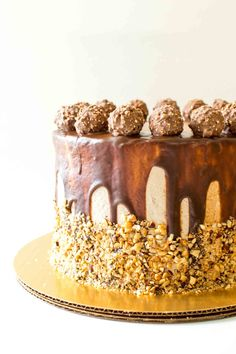Ferrero Rocher Cake and 5th Blogiversary | http://www.chocolateandconnie.com/ferrero-rocher-cake-and-5th-blogiversary/