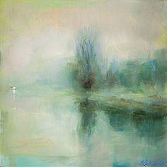 Edward B. Gordon ~ Morgennebel Morning fog over the river...  Morgennebel über dem Fluss…