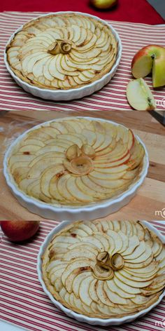 Beautiful Apple Pie display directions with step by step photos.