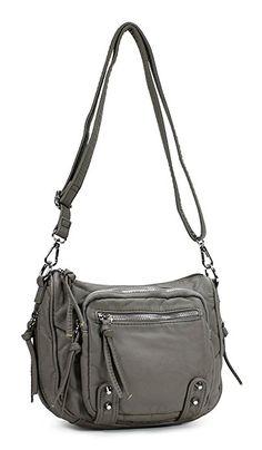 Scarleton SmallSoft Washed Multi Zip Crossbody Bag H178701 - Black   Handbags  Amazon.com 0b877f2fb17