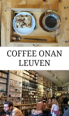 Sipping tea at coffee shop Koffie Onan in Leuven