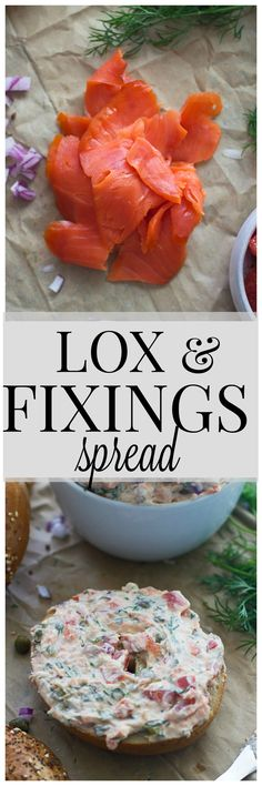 Lox and Fixing Spread - All the components of bagel and lox in one easy spread!