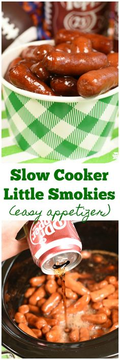 Slow Cooker Little Smokies are the best appetizer! Super easy too! Parties. Finger Food. Appetizers! #AD #HomeGateChamp