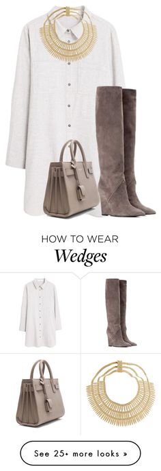 """""""google"""" by lovemelikeyourlast on Polyvore featuring MANGO, Yves Saint Laurent and Rosantica"""