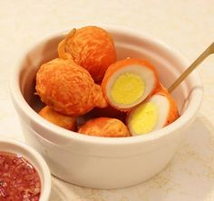 Diona Joyce, the owner of Toronto's Kanto by Tita Flips, shares her recipes for two popular FIlipino street foods, Kwek-kwek and Taho. Pinoy Street Food, Filipino Street Food, Pinoy Food, Filipino Food, Filipino Desserts, Filipino Recipes, Kwek Kwek Recipe, Snack Recipes, Dessert Recipes