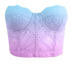 Blue to purple ombre bustier Rave Outfits, Cool Outfits, Summer Outfits, Fashion Outfits, Pastel Goth Fashion, Love Fashion, Womens Fashion, Purple Crop Top, Purple Ombre