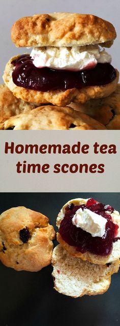 Homemade tea time scones, a true British delish recipe.