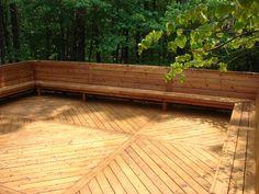 deck w/ bench seating ***Repinned by Normoe, the Backyard Guy (#1 backyardguy on Earth) Follow us on; http://twitter.com/backyardguy