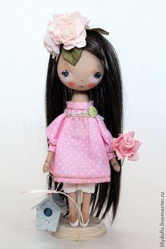 Коллекционные куклы ручной работы. Ярмарка Мастеров - ручная работа Цветущая. Текстильная кукла ( резерв). Handmade.
