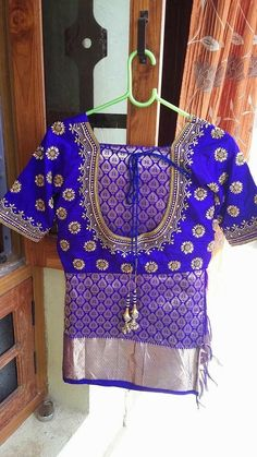 cute blouse designs for bridal. Wedding Saree Blouse Designs, Silk Saree Blouse Designs, Choli Designs, Saree Blouse Patterns, Henna Designs, Mirror Work Blouse, Maggam Work Designs, Bollywood, Blouse Models