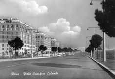 viale Cristoforo Colombo anni 50