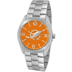 """Game Time Men's NFL-ELI-MIA """"Elite"""" Watch - Miami Dolphins (286.690 COP) ❤ liked on Polyvore featuring jewelry, watches, nfl watches, sport watch and dolphin jewelry"""