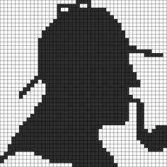 Sherlock Holmes Perler Bead Pattern / Bead Sprite
