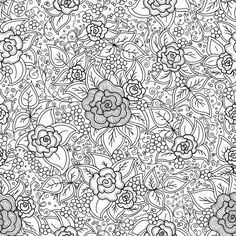 Floral Pattern  (Vector EPS, CS, antique, beautiful, border, classic, decorative, design, doodle, doodling, floral, flower, flowers, leaves, motif, ornament, pattern, repeat, repetition, retro, rose, rotation, seamless, spiral, square, stripes, symmetry, traditional, turn, vintage, zendoodle, zentangle)