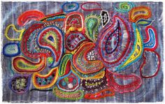 History of a Boho Embroidery by peregrine blue, via Flickr