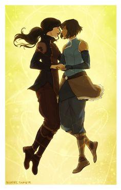 """8 Amazing Pieces Of """"The Legend of Korra"""" Korrasami Fan Art"""