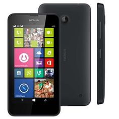 "Smartphone Nokia Lumia 630 Preto Dual Sim, Tv Digital ,Windows Phone 8.1, Tela 4.5"", QuadCore 1.2GHz, Câm. 5MP, WiFi, Bluetooth e A-Gps -Tim"