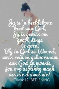 Bly in God se woord Inspirational Thoughts, Positive Thoughts, Afrikaanse Quotes, Wisdom Books, Praise The Lords, Gods Promises, Bible Verses Quotes, True Words, Trust God