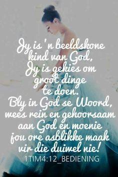 Moenie jou ore asbllikke maak vir die duiwel nie... Jy is 'n Godskind... #Afrikaans #2bMe