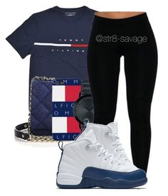 """Tommy Hilfiger"" by str8-savage ❤ liked on Polyvore featuring Kate Spade, Movado and NIKE"