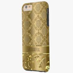 iPhone 6 Plus Cases | Elegant Metallic Gold Damasks and Lace Tough iPhone 6 Plus Case