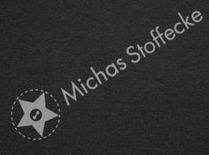 Michas Stoffecke - Stretch-Sweat Uni dunkelgrau meliert U0-U1-EU-SSw-Y-graphite-EV/70