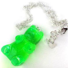 Fab.com   Gummy Bear Necklace Lime