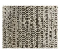 New Pottery Barn gray Avilia Rug 3 x 5 hand screened rug wool authentic #PotteryBarn #traditional