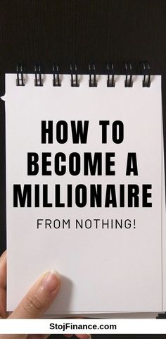 How to Become a Millionaire From Nothing - Stock Market Tips - Ideas of Stock Market Tips - Becoming wealthy doesnt have to be difficult. And in this post Ill teach you how to become a millionaire from nothing. Self Made Millionaire, Become A Millionaire, Money Tips, Money Saving Tips, How To Get Rich, How To Become, Finanz App, Budget Planer, Financial Tips