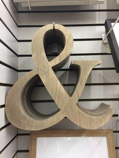 Wooden ampersand from hobby lobby