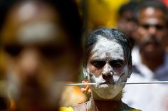 A Tamil Hindu devotee: Manan Vatsyayana/AFP/Getty Images