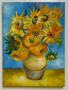 Sunflowers by Vincent van Gogh Reproduction Oil Painting on #vanGoghreproduction #oilpainting #sunflowers