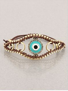 Crystal Evil Eye Bracelet  from P.S. I Love You More Boutique