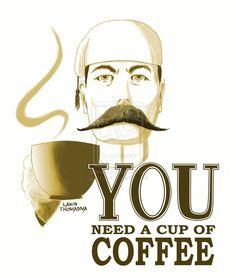 Coffee Poster for Art n Joe by NToonz