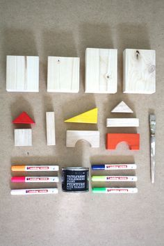 Wie du aus einfachen Holzklötzen eine Spielstadt zauberst | DIY Spielteppich Teil 2