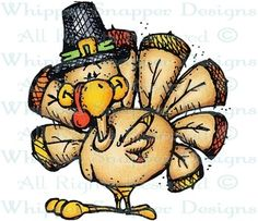 Tim Turkey - Thanksgiving - Holidays - Rubber Stamps - Shop