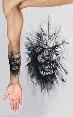Realistic wolf tattoo design is part of - ArtStation Glass wolf, Anastasiya Smith Wolf Tattoo Design, Tattoo Designs, Skull Tattoo Design, Wolf Design, Lion Arm Tattoo, Wolf Tattoo Sleeve, Forearm Tattoos, Sleeve Tattoos, Tattoo Wolf