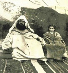 El Cherif Raisuni con su hijo