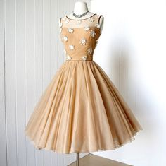 50s cocktail dress Love this! Details are super cute but a different color for sure
