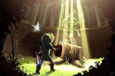 The Legend of Zelda: Ocarina of Time   Young Link, Navi, and Saria / Saria's song by MPdigitalART on deviantART