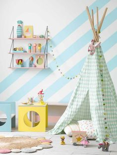 mommo design: GIRLY TEE PEE and pretty pastel space