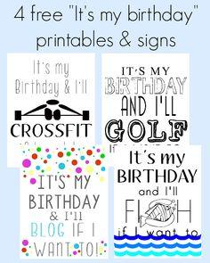 "4 free ""It's my birthday"" printable #free #birthday #printables #cards"