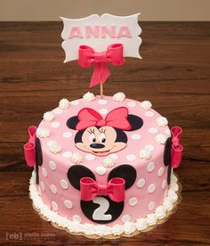 Minnie Mouse Cake Patti Cake Bakers Pinterest Mouse cake