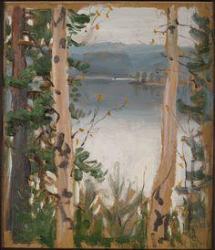 Syysmaisema Kalelasta (Näkymä Kalelasta Pääskynlahdelle), 1915 - 1918.