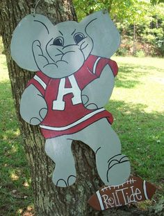 Alabama's Elephant Big AL Door Hanger by craftigirlcreations