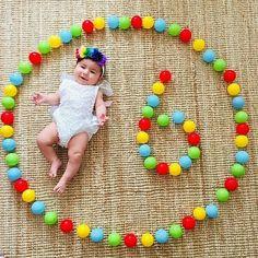 Monthly Baby Photos, Newborn Baby Photos, Baby Girl Newborn, Monthly Pictures, Funny Baby Photography, Newborn Baby Photography, 6 Month Baby Picture Ideas, One Month Baby, Half Birthday Baby