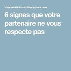 6 signes que votre partenaire ne vous respecte pas
