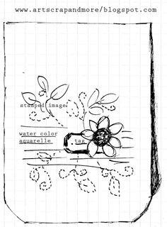 art scrap & more: a Sketch & a Card - Watercolor & Stamping