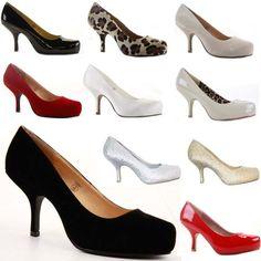 Kitten heels Court shoes and Stilettos on Pinterest